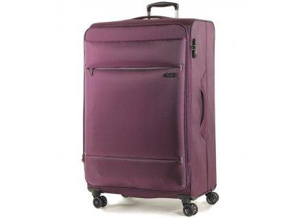 cestovný kufor ROCK TR-0161/3-L - fialová  + LED svítilna