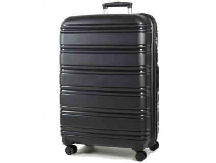 cestovný kufor ROCK TR-0164/3-L PP - čierna  + LED svítilna