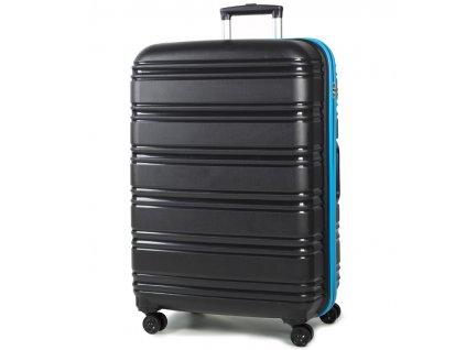 cestovný kufor ROCK TR-0164/3-L PP - čierna/modrá  + LED Čelovka 3W
