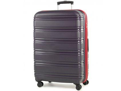cestovný kufor ROCK TR-0164/3-L PP - modrá/červená  + LED svítilna