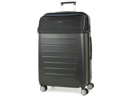 cestovný kufor ROCK TR-0166/3-L ABS/PES - čierna  + LED Čelovka 3W