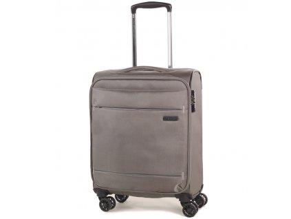 kabinová batožina ROCK TR-0161/3-S - béžová  + LED svítilna