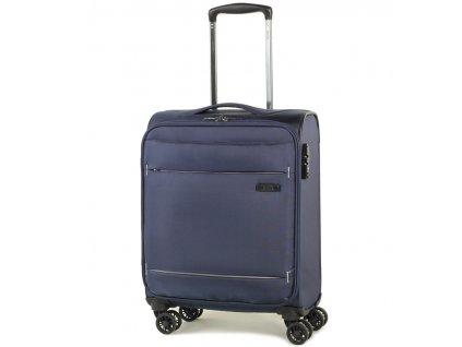 kabinová batožina ROCK TR-0161/3-S - tmavo modrá  + LED svítilna