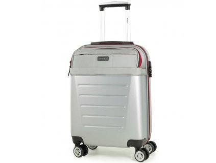 kabinová batožina ROCK TR-0166/3-S ABS/PES - strieborná  + LED svítilna