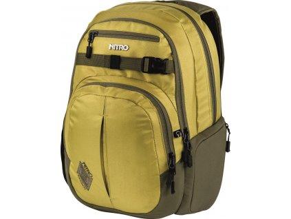 NITRO batoh CHASE golden mud  + LED svítilna