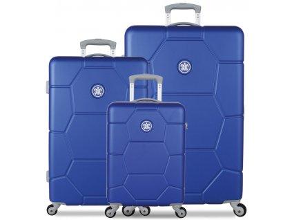 Sada cestovných kuforů SUITSUIT® TR-1225/3 ABS Caretta Dazzling Blue  + LED svítilna + zľava 10% s kódom AKCE10