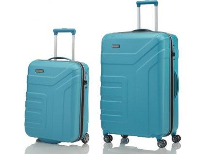 Travelite Vector 2w S, 4w L Turquoise - sada 2 kufrů