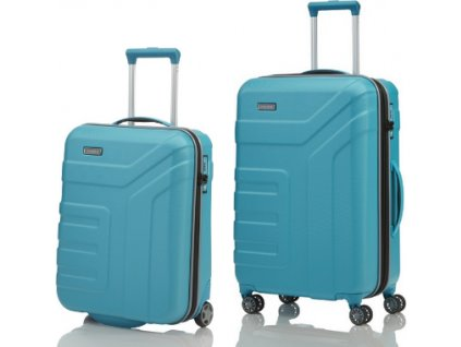 Travelite Vector 2w S, 4w M Turquoise - sada 2 kufrů
