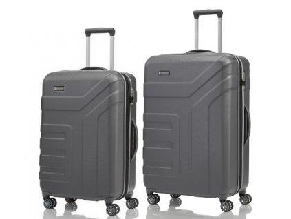 Travelite Vector 4w M, L Anthracite - sada 2 kufrů