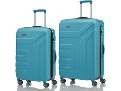 Travelite Vector 4w M, L Turquoise - sada 2 kufrů