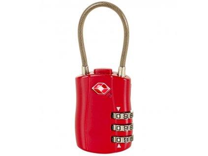 Bezpečnostní lankový TSA kódový zámek ROCK TA-0004 - vínová