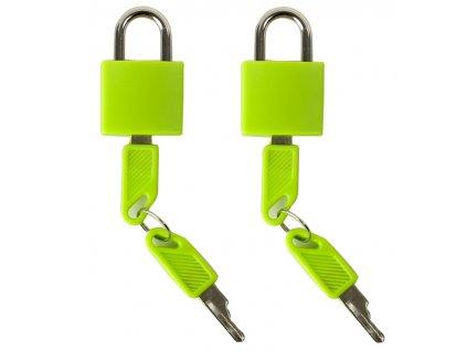 Bezpečnostní zámky na zavazadla ROCK 2ks TA-0009 - zelená