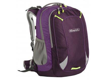 BOLL Smart 22 PURPLE - Školní batoh  + LED Čelovka 3W