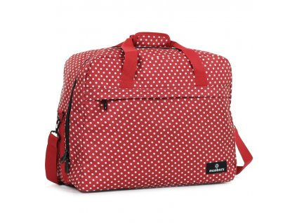 Cestovná taška MEMBER'S SB-0036 - červená/biela