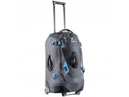 Deuter Helion 60 čierna/modrá - Cestovná taška na kolečkách  + LED svítilna