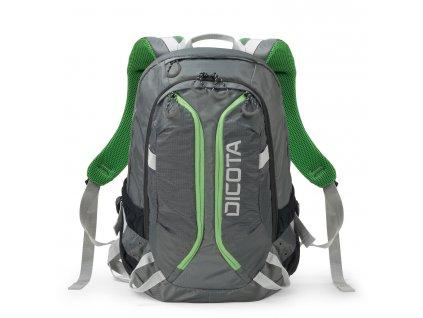 Dicota Backpack Active 14-15.6 grey/lime  + LED Čelovka 3W