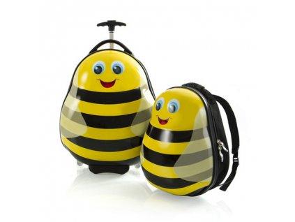 Heys Travel Tots Lightweight Kids Bumble Bee – sada batohu a kuforu  + LED Čelovka 3W