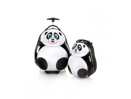 Heys Travel Tots Lightweight Kids Panda – sada batohu a kuforu