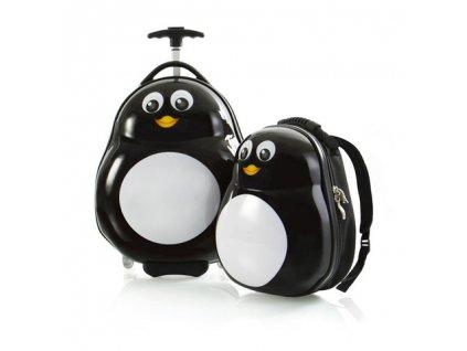 Heys Travel Tots Lightweight Kids Penguin – sada batohu a kuforu