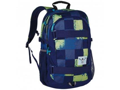 Chiemsee Hyper backpack S17 Swirl Checks  + LED Čelovka 3W