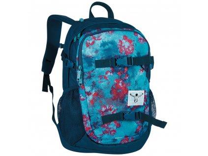 Chiemsee School backpack Dusty flowers  + LED Čelovka 3W
