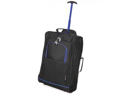 kabinová batožina CITIES T-830/1-55 - čierna/modrá