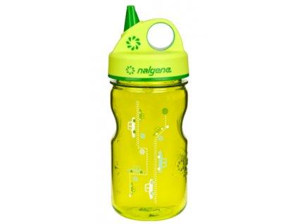Nalgene Grip-n-Gulp Kids 350 ml Green Cars - láhev pro děti