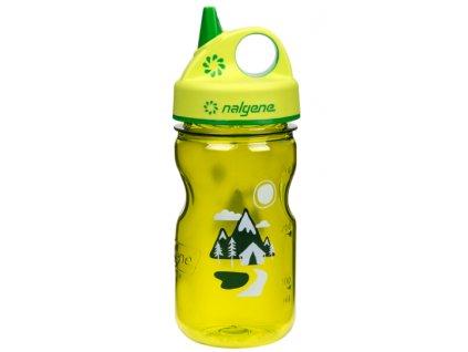 Nalgene Grip-n-Gulp Kids 350 ml Green/Trail - láhev pro děti