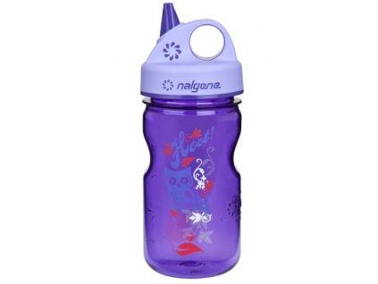 Nalgene Grip-n-Gulp Kids 350 ml Purple Hoot - láhev pro děti