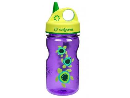 Nalgene Grip-n-Gulp Kids 350 ml Purple/Sea Turtles - láhev pro děti
