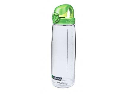 Nalgene OTF 750 ml Clear/Green Cap - láhev