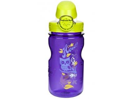 Nalgene OTF Kids 350 ml Purple Hoot - láhev pro děti