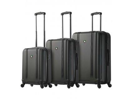 Sada cestovný kuforů MIA TORO M1210/3 - čierna  + LED svítilna
