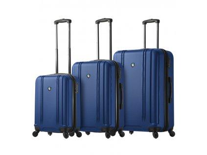 Sada cestovný kuforů MIA TORO M1210/3 - modrá  + LED svítilna