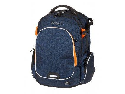 Studentský batoh WIZZARD Blue  + LED Čelovka 3W