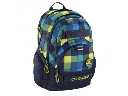 Školní batoh Coocazoo CarryLarry2, Lime District  + LED svítilna + zľava 10% s kódom AKCE10