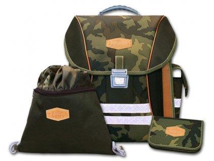 Školní batohový set Top Army 3-dílný  + LED Svítilna