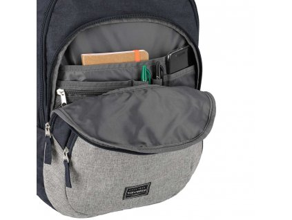 Travelite Basics Backpack Melange Navy/grey