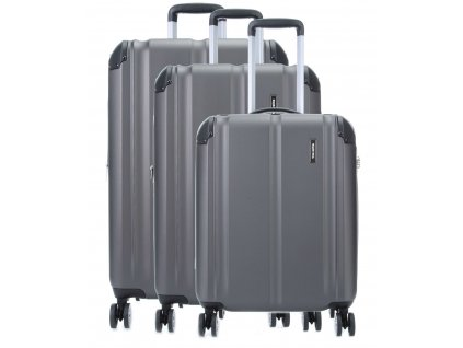 Travelite City 4w S,M,L Anthracite – sada 3 kuforů