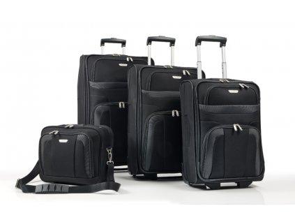Travelite Orlando S,M,L – sada 3 kuforů + Boarding Bag Black