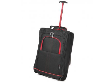kabinová batožina CITIES T-830/1-55 - čierna/červená