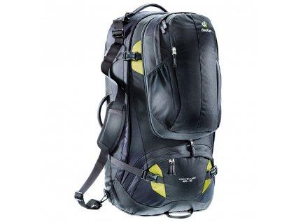 Deuter Traveller 80+10 black-moss - Batoh  + LED Čelovka 3W