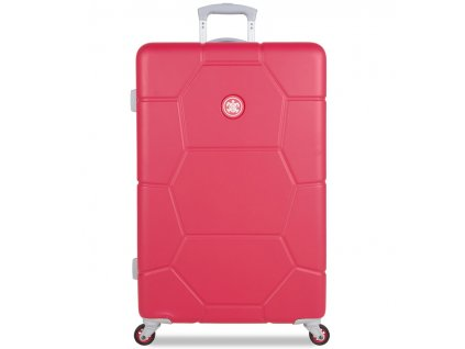 cestovný kufor SUITSUIT® TR-1247/3-L ABS Caretta Teaberry  + LED svítilna + zľava 10% s kódom AKCE10