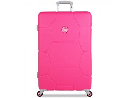 cestovný kufor SUITSUIT® TR-1248/3-L ABS Caretta Hot Pink  + LED svítilna