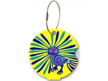 Jmenovka na kufor Addatag - Owl Yellow