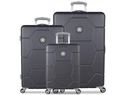 Sada cestovných kuforů SUITSUIT® TR-1226/3 ABS Caretta Cool Gray  + LED Čelovka 3W