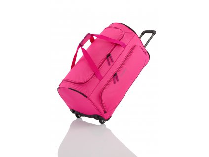 Travelite Basics Fresh Wheeled Duffle Pink