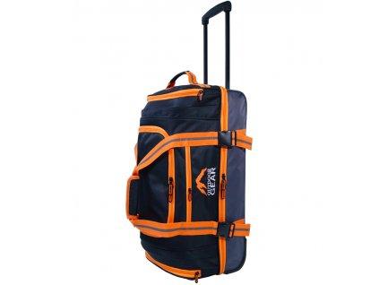 """Cestovná taška na kolečkách GEAR T-805/26"""" - čierna/oranžová  + LED Čelovka 3W"""