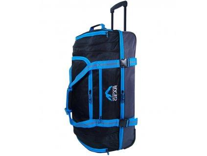 """Cestovná taška na kolečkách GEAR T-805/30"""" - čierna/modrá  + LED svítilna"""