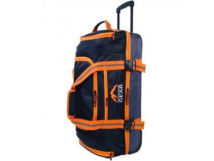 """Cestovná taška na kolečkách GEAR T-805/30"""" - čierna/oranžová  + LED Čelovka 3W"""